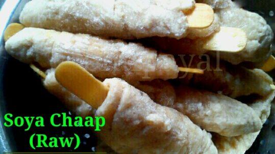 Raw Soya Chaap   Homemade Soya Chaap   How to make Soya Chaap Sticks at home