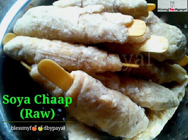Raw Soya Chaap | Homemade Soya Chaap | How to make Soya Chaap Sticks at home