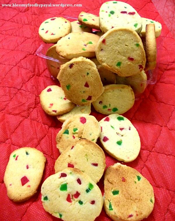 Eggless Tutti Fruity Cookies