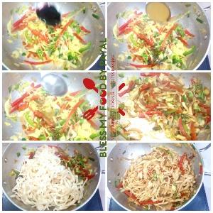 homemade eggless atta suji noodles