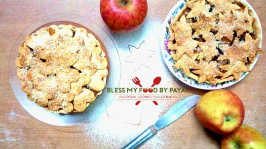 Apple pie recipe eggless