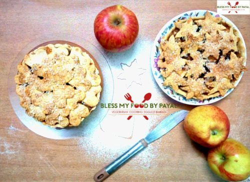 Apple pie recipe eggless