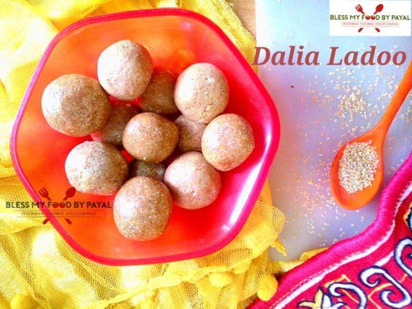 Dalai Ladoo | Broken Wheat Ladoo