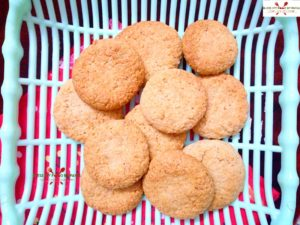 eggless oats cookies with leftover ghee residue