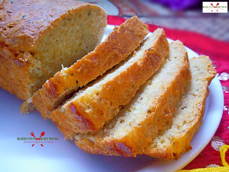 Whole wheat bread from leftover cooked moong dal