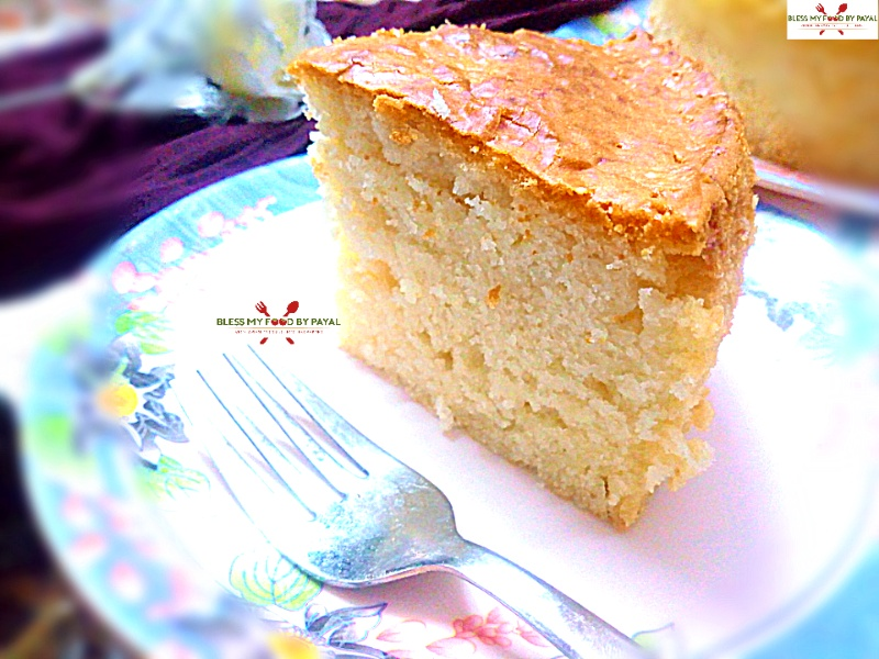simple eggless vanilla sponge cake