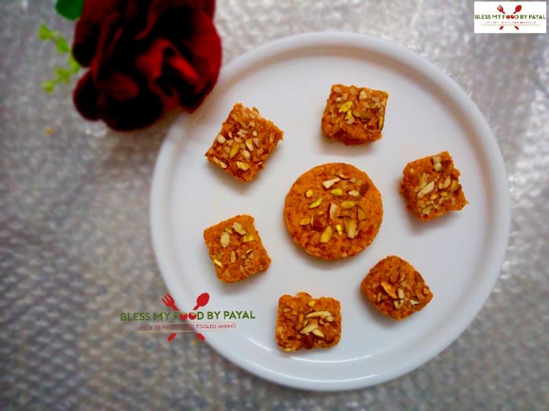gajar ki barfi with ghee residue