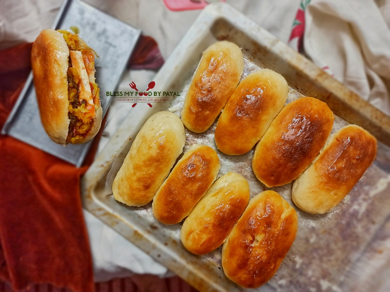 Vegetarian Hot Dogs Eggless Hot Dog Buns Indian Style Hot Dog Recipe Hotdog Street Food Of India Bless My Food By Payal